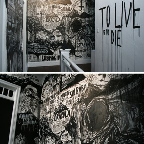 To live is to die | 2010 | Tinta china sobre pared | Galería Revolver