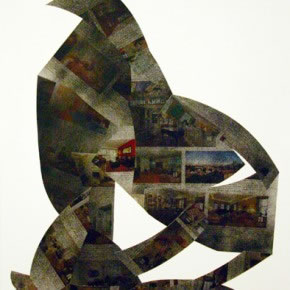 Alberto Borea | Real Estate Harlem | 2011 | Collage sobre papel con spray | 60 x 47 cm