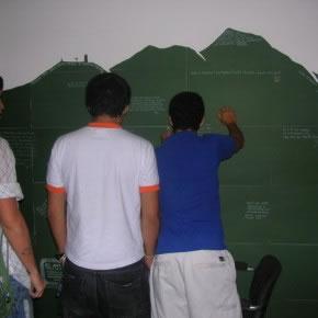 En el Avila es la cosa | Instalación - Happening | Cartulina y marcadores | 2005
