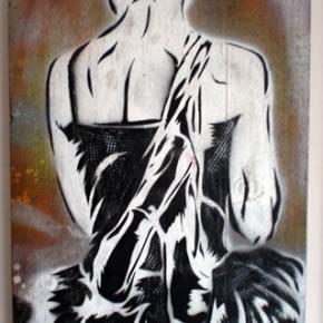 Pian | Pian 1 | Pintura Industrial, stencil sobre madera | 2005