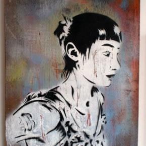 Pian | Pian4 | Pintura Industrial, stencil sobre madera | 2005