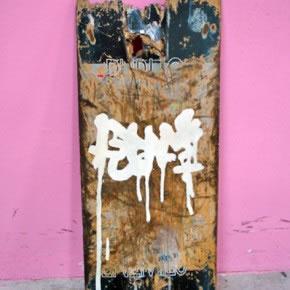 FED OVALLES AR | Mixta sobre skateboard | 2006
