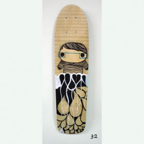 HMTO | Mixta sobre skateboard | 2006