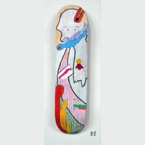 SANTIAGO LOZADA | Mixta sobre skateboard | 2006