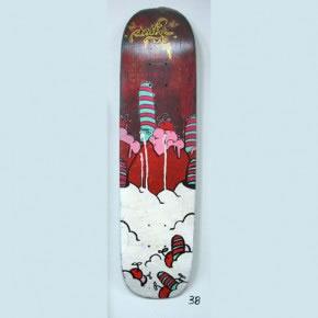 ASTRO | Mixta sobre skateboard | 2006