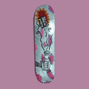 AMOR LOCO 45 | Mixta sobre skateboard | 2006