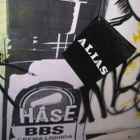 Stencil de Hase | Fotocopia | 2006 | Libro Alias de Luis Romero | Acrilico sobre papel | 2006
