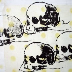 Obra de Luis Romero | Vanitas |Serigrafia sobre papel pintado | 2006