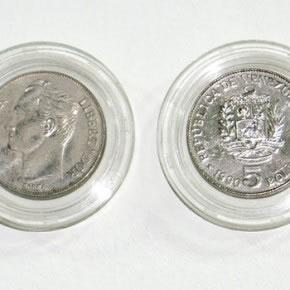 Luis Romero | Conversión cambiaria (detalle)| 2007 | plástico y monedas