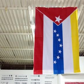 Gabriel Castillo | Bandera Cuba - Venezuela | 2007 | tela