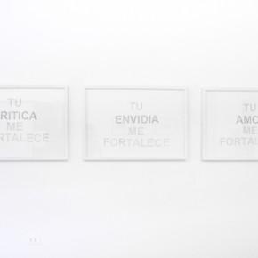 Luis Romero | Tu crítica me fortalece , tu envidia me fortalece , tu amor me fortalece |2008 | grafito sobre papel