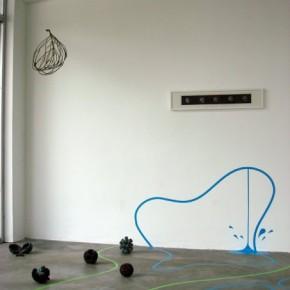Vista de sala Obras de José Antonio Fernández, Andrés Manner y Andrea Ayala
