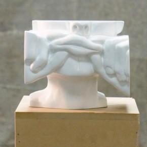 Studies for Holograms (Bruce Nauman) De la serie Girar el Cuerpo | 2011 | 15 alto x 19 ancho x 17cm profundidad | Vaciado en resina