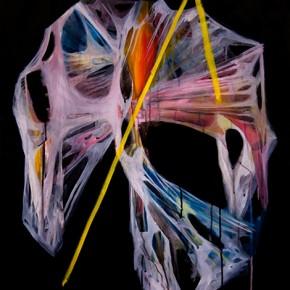 Pizarras/R. Steiner | 2011 | Tinta china y acrílico sobre papel de algodón | 100 x 70 cm