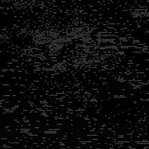 Transcripción digital del Libro de las Revelaciones (Detalle) | 2013 | Impresiòn digital sobre papel de algodón | 200 x 140 cm