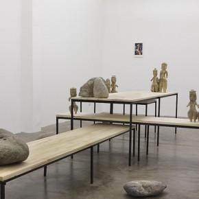 This New Mistery | 2013 | Vista de la instalaciòn | Madera, acero, rocas, cerámica, agua | Dimensiones variables