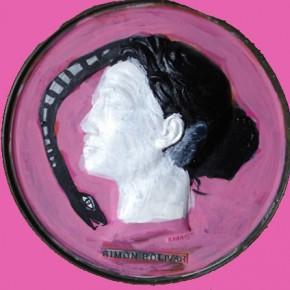Autorretrato sobre medallón de Simón Bolivar | Mixta sobre Yeso | 2005