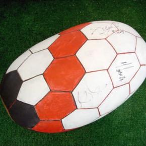 Balón (Independiente de Avellaneda) | Gabriel Castillo | 2008 | Acrílico sobre tapara