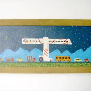 Transporte | Gabriel Castillo | 2009 | acrílico sobre tela