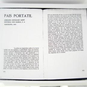 Fragmento del texto de Adriano González León