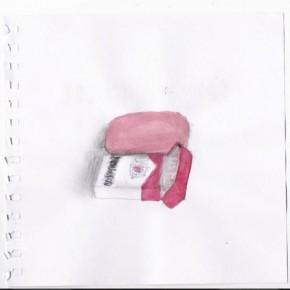 Borrador y caja de cigarros | 2008