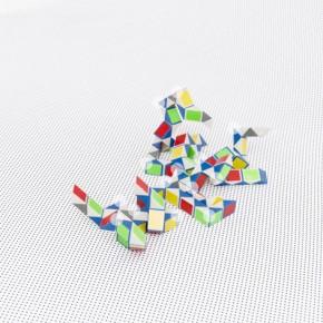 Sin título Con Círculos | 2012 | Inyección de tinta sobre papel de algodón | 70 x 52,5 cm | Ed. 5