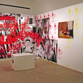 Lámpara Otto Lautrebach | Gráfica Getto creativo | Mural Jaime Gili| Stencil Hase | Caja de audio Iván Candeo | Stencil Pian | Fotografía Suwon Lee