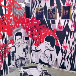 Gráfica Getto creativo | Mural Jaime Gili| Stencil Hase | Stencil Pian | Fotografías de Martín Castillo y María Antonia Rodríguez