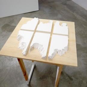Ernesto Montiel | Ficciones topográficas | 2011 | incisiones sobre papel | 25 x 14 x 3,5 cm