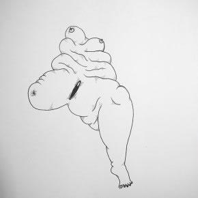 José Miguel Del Pozo | Cuerpo | 2010 | Tinta sobre papel