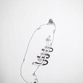 José Miguel Del Pozo | Machine leg | 2010 | Tinta sobre papel