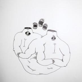 José Miguel Del Pozo | Tres | 2010 | Tinta sobre papel