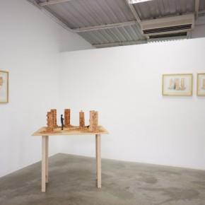 Las torres de Caracas | 2012 | 3 acuarelas sobre papel (proyecto), 6 maquetas a escala de arcilla cocida