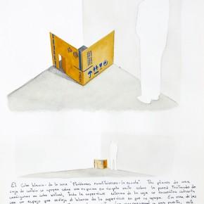 El cubo blanco | 2012 | Acuarela sobre papel | 40 x 30 cm |