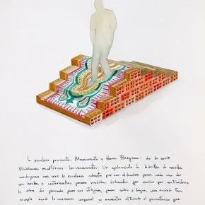 Oscar Abraham Pabón | La escalera pensante | 2012 | Acuarela sobre papel (Proyecto de escultura) | 40 x 30 cm