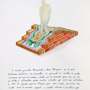 La escalera pensante (Monumento a Henri Bergson) | 2012 | acuarela sobre papel (proyecto) | 40 x 30 cm