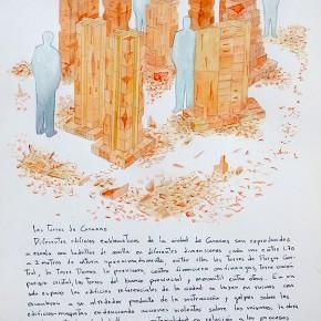 Las torres de Caracas | 2012 | 3 acuarelas sobre papel (proyecto) | 40 x 30 cm