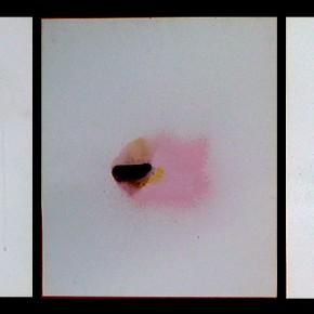12/13/14. Sin título. Pap-mart 1, 2 y 3 | Tinta acrílica, colorantes vegetales y pigmentos histológicos sobre papel airbrush canson | 43,1 x 35,5 cm