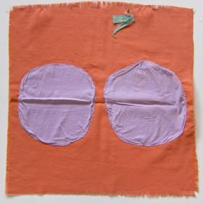 22. Dos círculos | 2012 | Apliques de algodón sobre poliéster | 52 x 53 cm