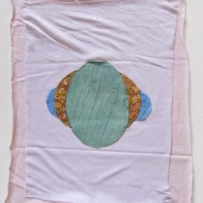 26. Despliegue 2 | 2012 | Apliques de diversos textiles sobre algodón | 36 x 41,5 cm