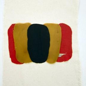 27. Despliegue 1 | 2012 | Apliques de poliéster sobre lona de algodón | 36,5 x 29,5 cm