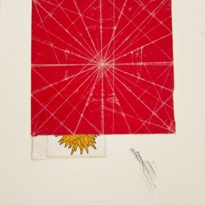 32. Centro y líneas blancas | 2012 | Papel lustrillo y grafito sobre papel fabriano (220gr) | 31 x 24,3 cm