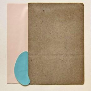 39. Rectángulos y mancha | 2012 | Cartulina Bristol, cartón gris y vinil sobre papel fabriano 220 gr | 48 x 32 cm