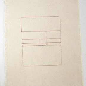43. Rectángulos | 2012 | Hilos entretejidos sobre lona de algodón | 36, 5 x 28, 6 cm
