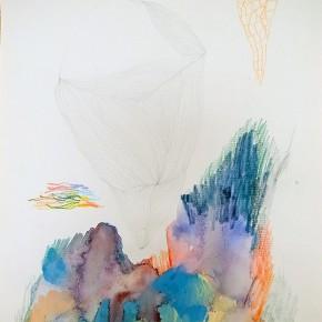 9. Volumen | 2012 | Grafito, creyones y acuarela sobre papel torreón | 28 x 21, 5 cm