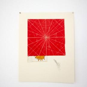 Vista de sala | 32. Centro y líneas blancas | 2012 | Papel lustrillo y grafito sobre papel fabriano (220gr) | 31 x 24,3 cm