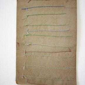 Vista de sala | 19. 4 | 2012 | Materiales diversos sobre cartón | 28,5 x 19,5 cm