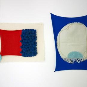 Vista de sala | Sin título. Rojo, azul y Cian / Azul