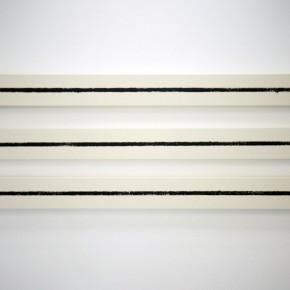 Sigfredo Chacón | The strengthened line | 2012 | Pastel, óleo sobre tela cruda | 16 x 170 x 5 cm