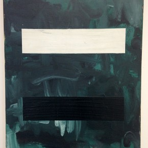 Eugenio Espinoza | Negro y Blanco | 1988 | Mixta sobre tela | 60 x 50 cm